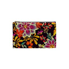 Autumn Flowers Pattern 6 Cosmetic Bag (small)  by tarastyle