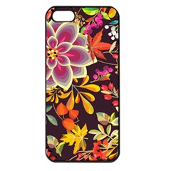 Autumn Flowers Pattern 6 Apple Iphone 5 Seamless Case (black) by tarastyle