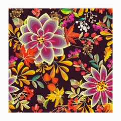 Autumn Flowers Pattern 6 Medium Glasses Cloth by tarastyle