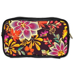Autumn Flowers Pattern 6 Toiletries Bags 2 Side by tarastyle
