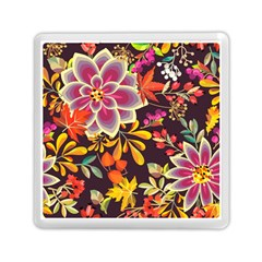 Autumn Flowers Pattern 6 Memory Card Reader (square)  by tarastyle