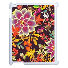 Autumn Flowers Pattern 6 Apple Ipad 2 Case (white) by tarastyle