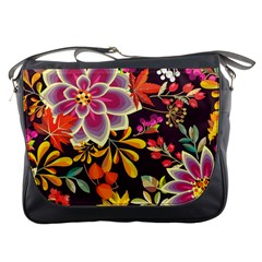 Autumn Flowers Pattern 6 Messenger Bags by tarastyle