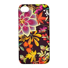 Autumn Flowers Pattern 6 Apple Iphone 4/4s Hardshell Case With Stand by tarastyle