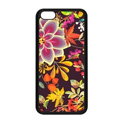 Autumn Flowers Pattern 6 Apple Iphone 5c Seamless Case (black) by tarastyle