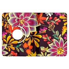 Autumn Flowers Pattern 6 Kindle Fire Hdx Flip 360 Case by tarastyle