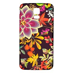 Autumn Flowers Pattern 6 Samsung Galaxy S5 Back Case (white) by tarastyle