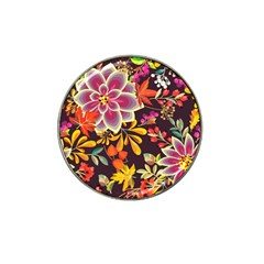 Autumn Flowers Pattern 6 Hat Clip Ball Marker (10 Pack) by tarastyle