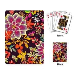 Autumn Flowers Pattern 6 Playing Card by tarastyle