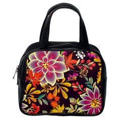 Autumn Flowers Pattern 6 Classic Handbags (one Side) by tarastyle