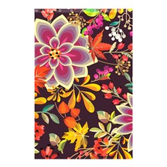 Autumn Flowers Pattern 6 Shower Curtain 48  X 72  (small)  by tarastyle