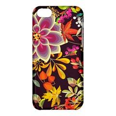 Autumn Flowers Pattern 6 Apple Iphone 5c Hardshell Case by tarastyle