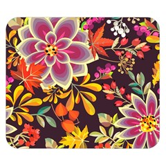 Autumn Flowers Pattern 6 Double Sided Flano Blanket (small)  by tarastyle