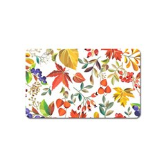 Autumn Flowers Pattern 7 Magnet (name Card) by tarastyle