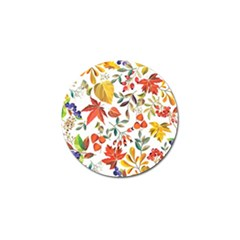 Autumn Flowers Pattern 7 Golf Ball Marker (10 Pack) by tarastyle