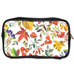 Autumn Flowers Pattern 7 Toiletries Bags 2 Side by tarastyle