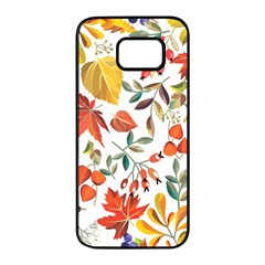 Autumn Flowers Pattern 7 Samsung Galaxy S7 Edge Black Seamless Case by tarastyle