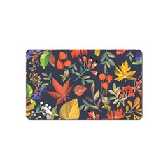 Autumn Flowers Pattern 8 Magnet (name Card) by tarastyle
