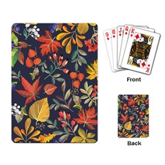 Autumn Flowers Pattern 8 Playing Card by tarastyle