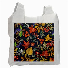 Autumn Flowers Pattern 8 Recycle Bag (two Side)  by tarastyle