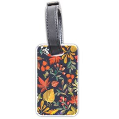Autumn Flowers Pattern 8 Luggage Tags (two Sides) by tarastyle