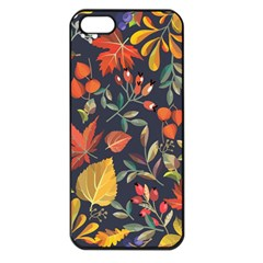 Autumn Flowers Pattern 8 Apple Iphone 5 Seamless Case (black) by tarastyle