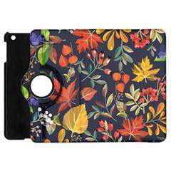 Autumn Flowers Pattern 8 Apple Ipad Mini Flip 360 Case by tarastyle
