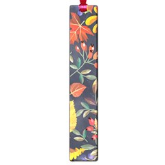 Autumn Flowers Pattern 8 Large Book Marks by tarastyle
