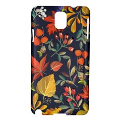 Autumn Flowers Pattern 8 Samsung Galaxy Note 3 N9005 Hardshell Case by tarastyle