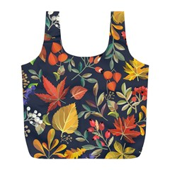 Autumn Flowers Pattern 8 Full Print Recycle Bags (l)  by tarastyle