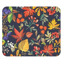Autumn Flowers Pattern 8 Double Sided Flano Blanket (small)  by tarastyle
