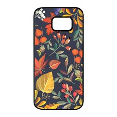 Autumn Flowers Pattern 8 Samsung Galaxy S7 Edge Black Seamless Case by tarastyle