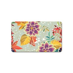 Autumn Flowers Pattern 9 Magnet (name Card) by tarastyle