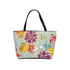 Autumn Flowers Pattern 9 Shoulder Handbags by tarastyle