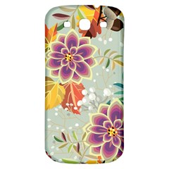 Autumn Flowers Pattern 9 Samsung Galaxy S3 S Iii Classic Hardshell Back Case by tarastyle