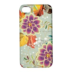 Autumn Flowers Pattern 9 Apple Iphone 4/4s Hardshell Case With Stand by tarastyle
