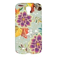 Autumn Flowers Pattern 9 Samsung Galaxy S4 I9500/i9505 Hardshell Case by tarastyle