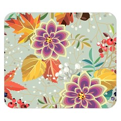 Autumn Flowers Pattern 9 Double Sided Flano Blanket (small)  by tarastyle