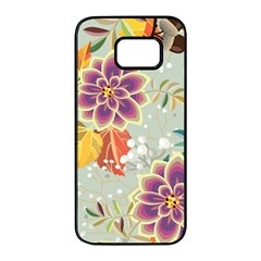 Autumn Flowers Pattern 9 Samsung Galaxy S7 Edge Black Seamless Case by tarastyle