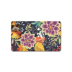 Autumn Flowers Pattern 10 Magnet (name Card) by tarastyle
