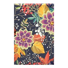 Autumn Flowers Pattern 10 Shower Curtain 48  X 72  (small)  by tarastyle