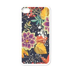 Autumn Flowers Pattern 10 Apple Iphone 4 Case (white) by tarastyle