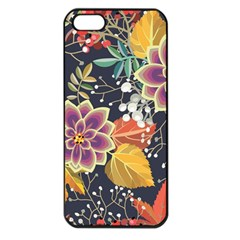 Autumn Flowers Pattern 10 Apple Iphone 5 Seamless Case (black) by tarastyle