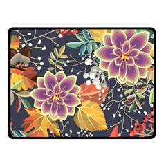 Autumn Flowers Pattern 10 Double Sided Fleece Blanket (small)  by tarastyle