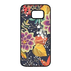 Autumn Flowers Pattern 10 Samsung Galaxy S7 Edge Black Seamless Case by tarastyle