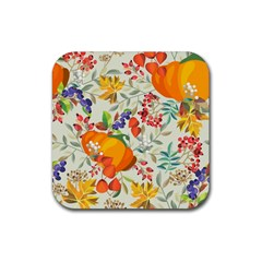 Autumn Flowers Pattern 11 Rubber Coaster (square)  by tarastyle