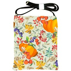 Autumn Flowers Pattern 11 Shoulder Sling Bags by tarastyle