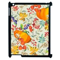 Autumn Flowers Pattern 11 Apple Ipad 2 Case (black) by tarastyle