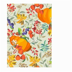Autumn Flowers Pattern 11 Large Garden Flag (two Sides) by tarastyle