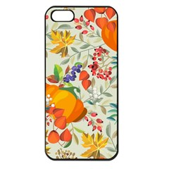 Autumn Flowers Pattern 11 Apple Iphone 5 Seamless Case (black) by tarastyle